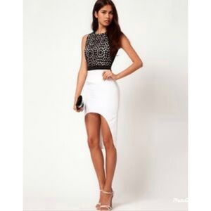 ASOS cut out top high-low skirt fitted sleeveless